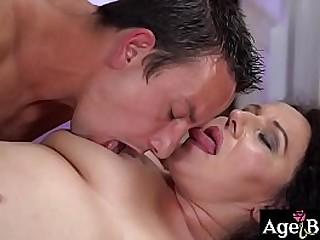 A deep cock pounding for granny Lili