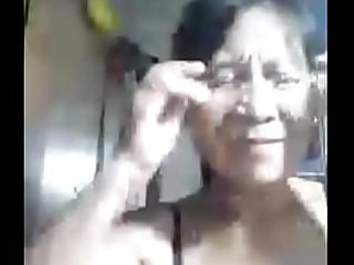 Granny pinay on webcam
