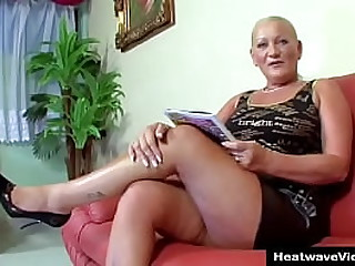 55 And Still Bangin #2 - Imrene - Curvaceous granny offers up her ass to muscular young stud