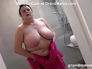 Big titties granny is always wet