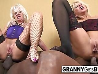 Old sluts love black cock